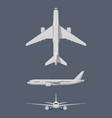 different sides of modern airplane vector image vector image