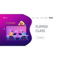 digital learning concept landing page vector image vector image