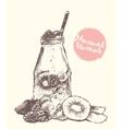Drawn homemade lemonade sketch vector image vector image