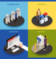 elections concept icons set vector image
