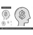 Employee cost line icon vector image