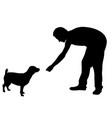 feeding dog vector image