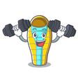 fitness sleeping bad character cartoon vector image