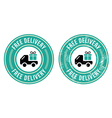 Free delivery retro grunge badge vector image vector image