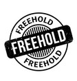 freehold rubber stamp vector image vector image