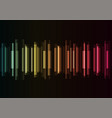 frequency bar overlap in dark background vector image vector image