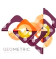 Geometrical minimal abstract background with light vector image vector image