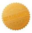 gold god bless america award stamp vector image vector image