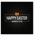 happy easter frame on black background vector image vector image