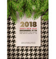 happy new year party 2018 promotional poster vector image vector image