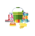 House cleaning tools vector image vector image