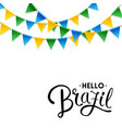 isolated hello brazil background vector image