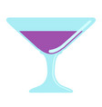 isolated wine glass icon vector image