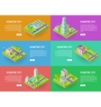 Isometric City Web Banners set vector image
