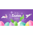 it is easter time colorful background vector image vector image