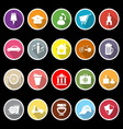 Map sign and symbol flat icons with long shadow vector image vector image