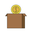 money related icon image vector image vector image