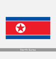 north korea korean dprk national flag vector image