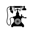 Old vintage telephone vector image vector image