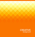 orange background abstract color mosaic triangle vector image vector image