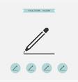 pencil icon simple vector image vector image