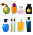 perfumes bottles various flasks and glass bottles vector image vector image