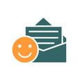 positive feedback happy emoji colored icon good vector image vector image