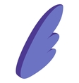 Purple simple wing icon isometric 3d style vector image