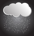 rain clouds 3 vector image vector image