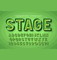 retro cinema font design cabaret broadway vector image