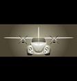 Retro flying car vector image vector image