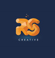 rs letter with origami triangles logo creative vector image vector image