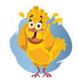 scared turkey funny cartoon vector image vector image