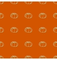 Seamless pattern of autumn pumpkins Harvest of vector image