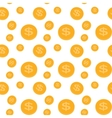 Seamless pattern of the coins vector image vector image