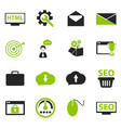 seo and development icons set vector image