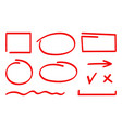 set correction and highlight elements vector image