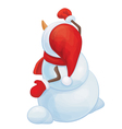 snowman back vector image vector image
