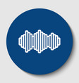 sound waves icon white contour icon in vector image vector image