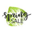 spring sale hand written inscription vector image vector image