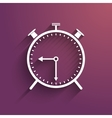 Stopwatch icon with trendy shadow and background vector image
