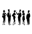 team three men and three women in business vector image vector image