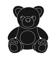 Toys donation icon in black style isolated on vector image vector image
