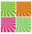 tunnel vortex in multiple color stripe pattern vector image vector image