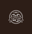 vintage coffee logo in white color vector image vector image