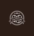 vintage coffee logo in white color vector image vector image