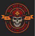vintage firefighting emblem concept vector image