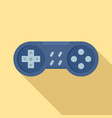 vintage gamepad icon flat style vector image vector image