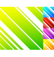 vivid colorful pattern in 5 color with slanting vector image