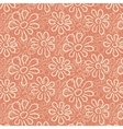 White flower pattern on warm pink background vector image vector image